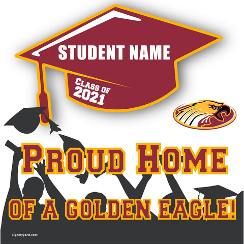 Clovis West High School 24x24 Class of 2021 Yard Sign (Option B)