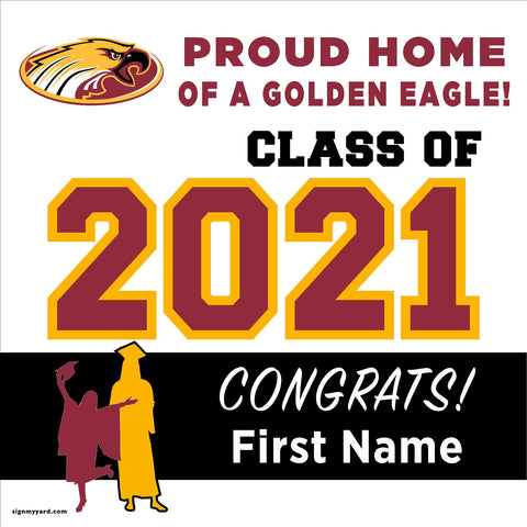 Clovis West High School 24x24 Class of 2021 Yard Sign (Option A)