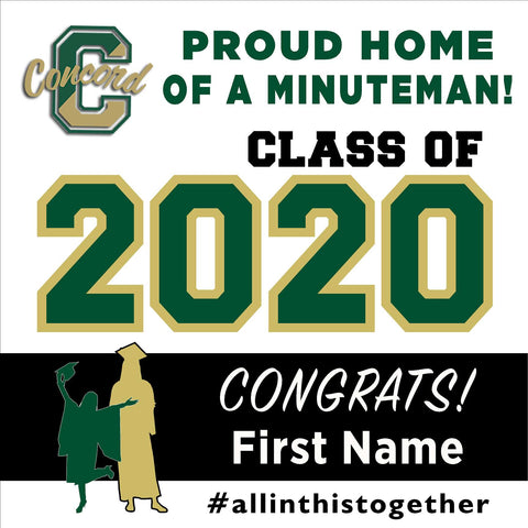 Concord High School 24x24 Class of 2020 Yard Sign (Option A)