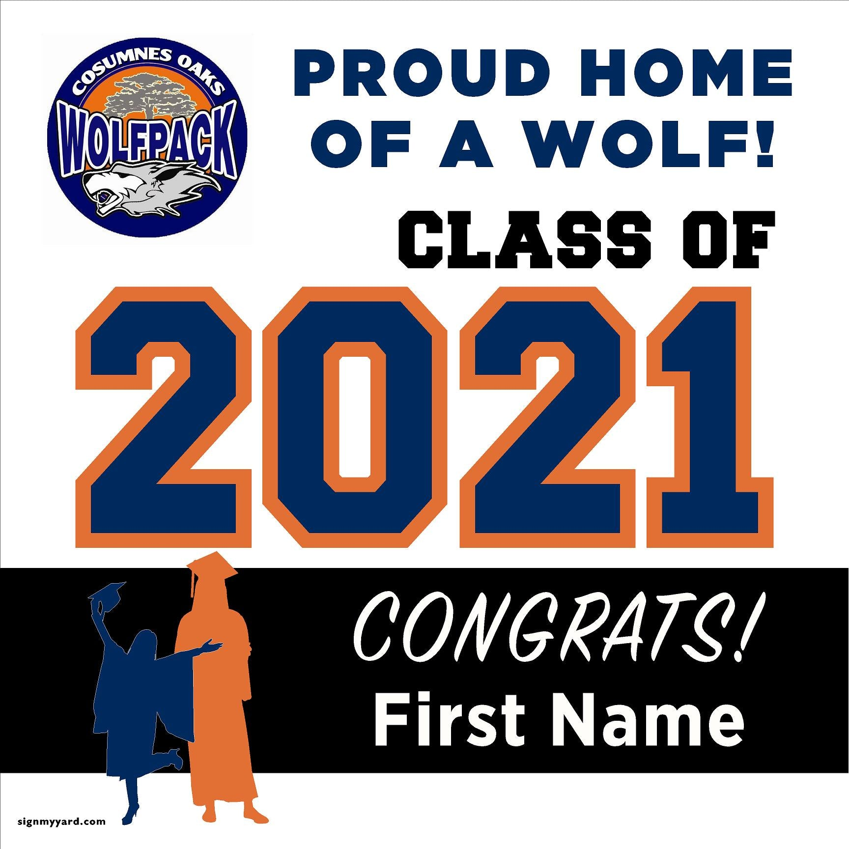 Cosumnes Oaks High School 24x24 Class of 2021 Yard Sign (Option A)