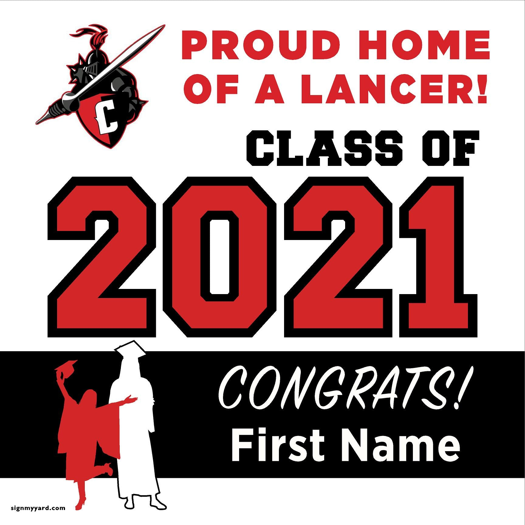 Cordova High School 24x24 Class of 2021 Yard Sign (Option A)