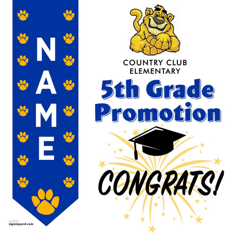 Country Club Elementary School 5th Grade Promotion 24x24 #shineon2027 Yard Sign (Option B)