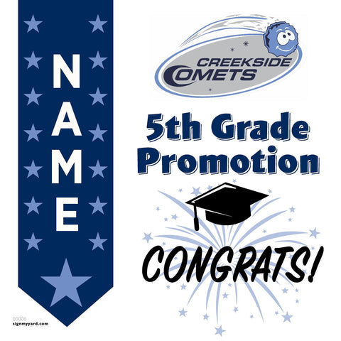 Creekside Elementary School 5th Grade Promotion 24x24 #shineon2027 Yard Sign (Option B)