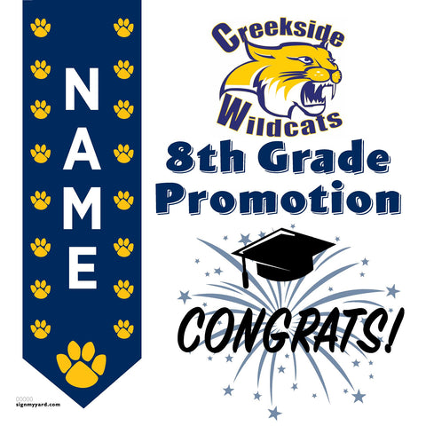 Creekside Middle School 8th Grade Promotion 24x24 #shineon2024 Yard Sign (Option B)