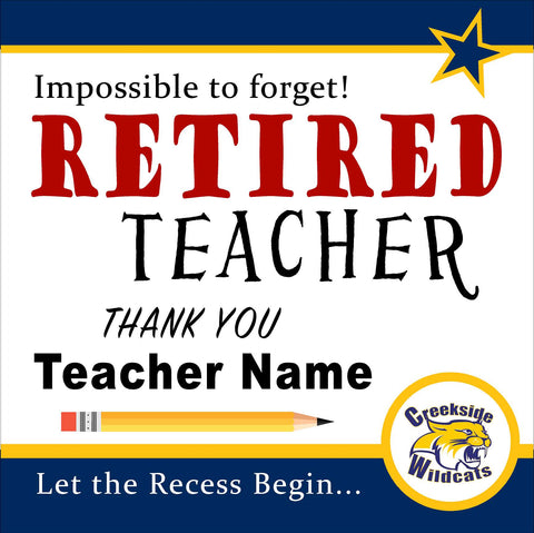 Teacher Retirement Sign
