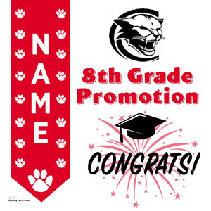 Crystal Middle School 8th Grade Promotion 24x24 #shineon2024 Yard Sign (Option B)