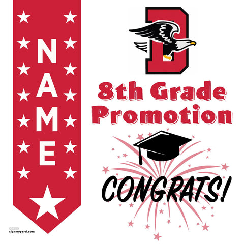 Dartmouth Middle School 8th Grade Promotion 24x24 #shineon2024 Yard Sign (Option B)