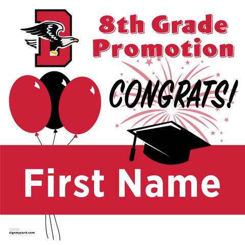 Dartmouth Middle School 8th Grade Promotion 24x24 Yard Sign (Option A)