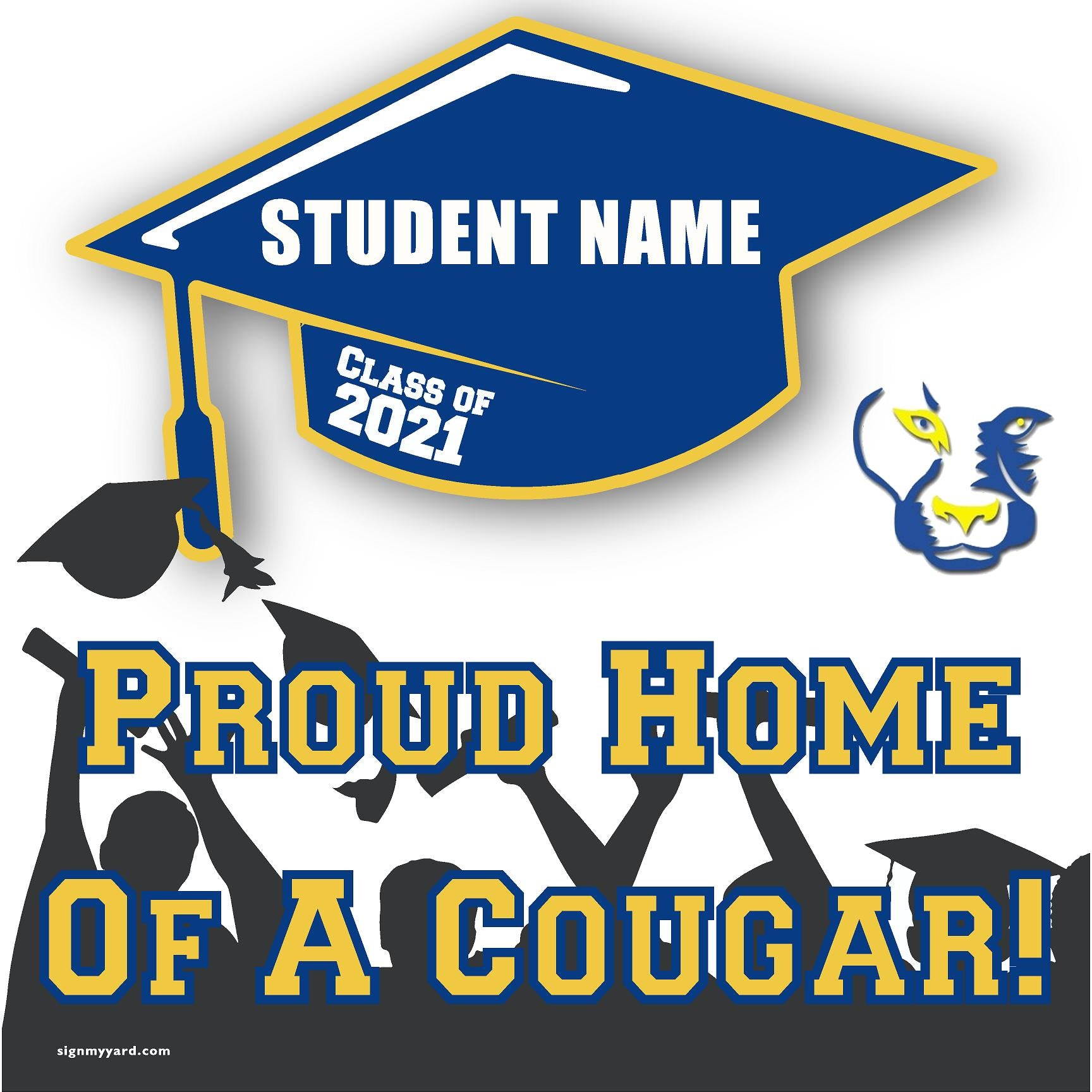 Del Campo High School 24x24 Class of 2021 Yard Sign (Option B)