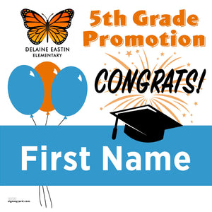 Delaine Eastin Elementary School 5th Grade Promotion 24x24 #shineon2027 Yard Sign (Option A)