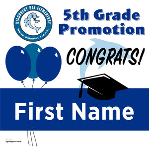 Discovery Bay Elementary 5th Grade Promotion 24x24 #shineon2027 Yard Sign (Option A)