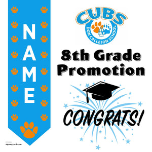 Don Callejon School 8th Grade Promotion 24x24 #shineon2024 Yard Sign (Option B)