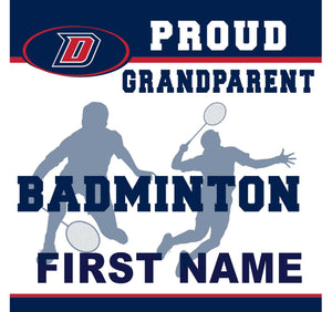 Dublin High School Badminton (Grandparent) 24x24 Yard Sign (includes installation in your yard)