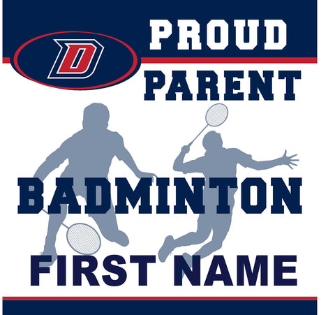 Dublin High School Badminton (Parent) 24x24 Yard Sign (includes installation in your yard)