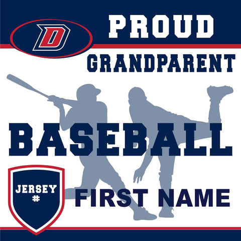Dublin High School Baseball (Grandparent with Jersey #) 24x24 Yard Sign (includes installation in your yard)
