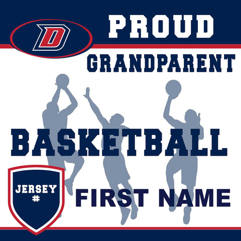 Dublin High School Basketball (Grandparent with Jersey #) 24x24 Yard Sign (includes installation in your yard)