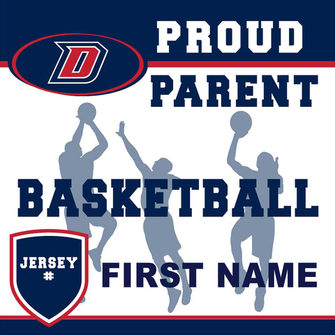 Dublin High School Basketball (Parent with Jersey #) 24x24 Yard Sign (includes installation in your yard)