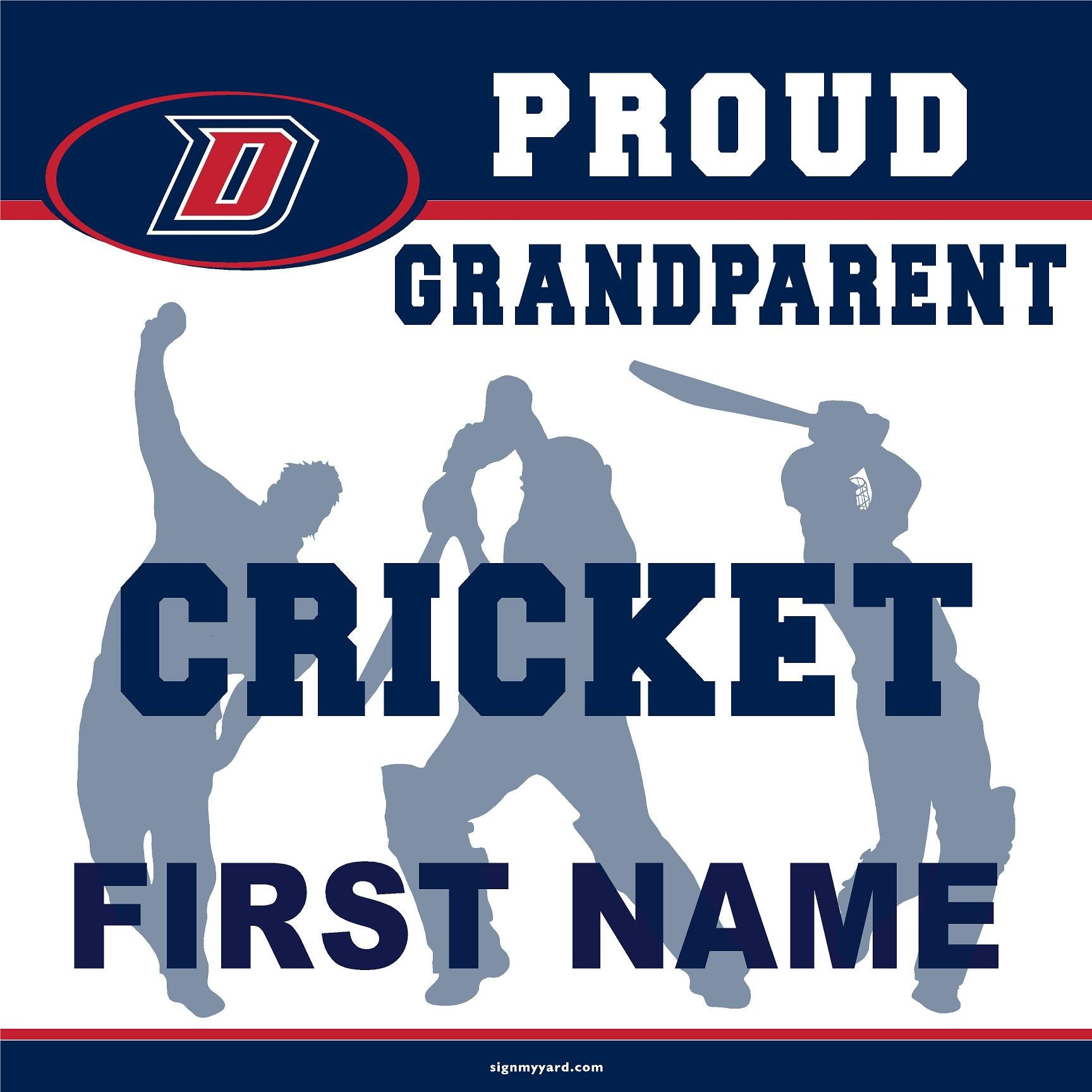 Dublin High School Cricket (Grandparent) 24x24 Yard Sign (includes installation in your yard)