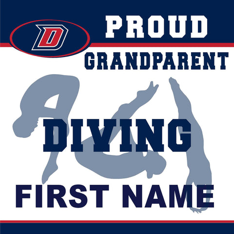 Dublin High School Diving (Grandparent) 24x24 Yard Sign (includes installation in your yard)