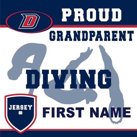 Dublin High School Diving (Grandparent with Jersey #) 24x24 Yard Sign (includes installation in your yard)