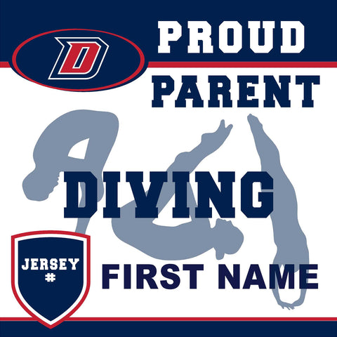 Dublin High School Diving (Parent with Jersey #) 24x24 Yard Sign (includes installation in your yard)