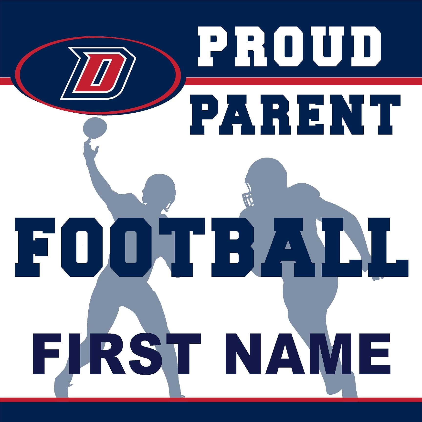 Dublin High School Football (Parent) 24x24 Yard Sign (includes installation in your yard)