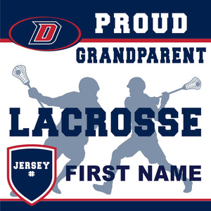 Dublin High School Lacrosse (Grandparent with Jersey #) 24x24 Yard Sign (includes installation in your yard)