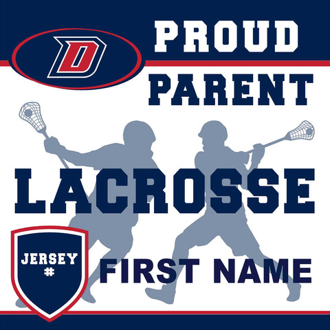 Dublin High School Lacrosse (Parent with Jersey #) 24x24 Yard Sign (includes installation in your yard)