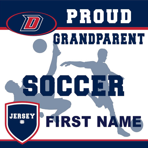 Dublin High School Soccer (Grandparent with Jersey #) 24x24 Yard Sign (includes installation in your yard)