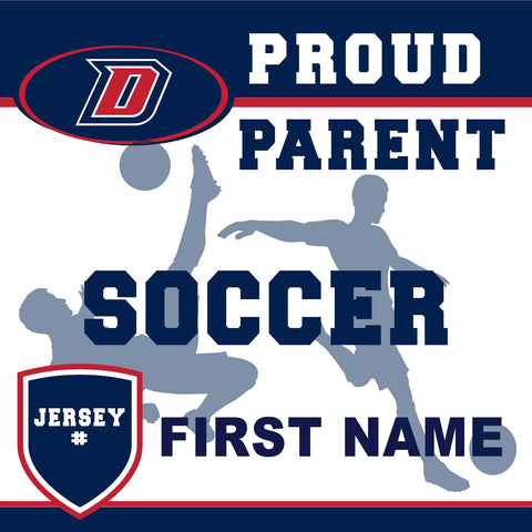 Dublin High School Soccer (Parent with Jersey #) 24x24 Yard Sign (includes installation in your yard)