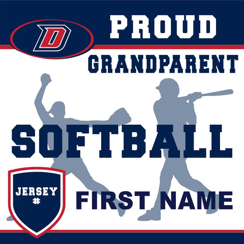 Dublin High School Softball (Grandparent with Jersey #) 24x24 Yard Sign (includes installation in your yard)
