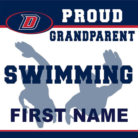 Dublin High School Swimming (Grandparent) 24x24 Yard Sign (includes installation in your yard)