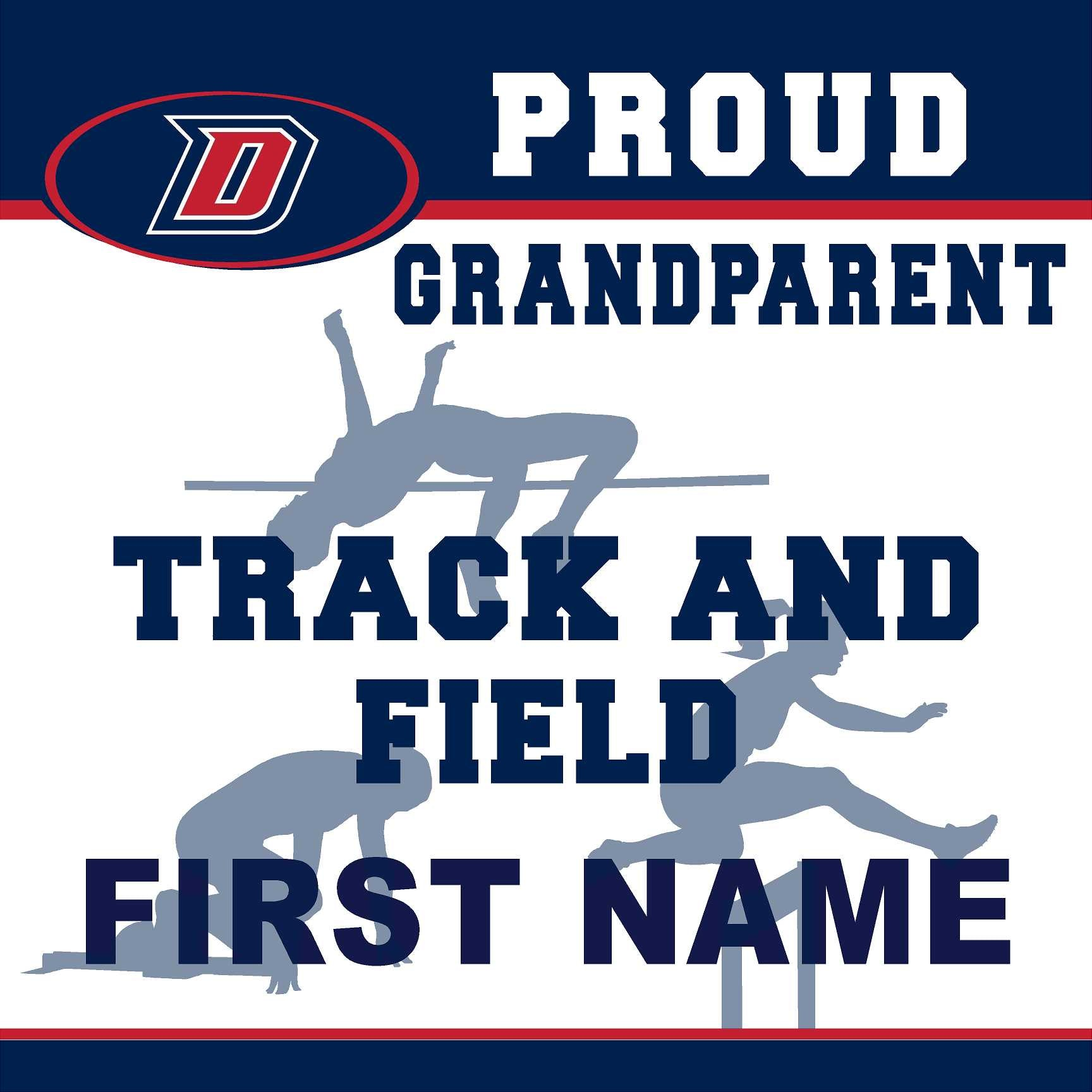 Dublin High School Track and Field (Grandparent) 24x24 Yard Sign (includes installation in your yard)