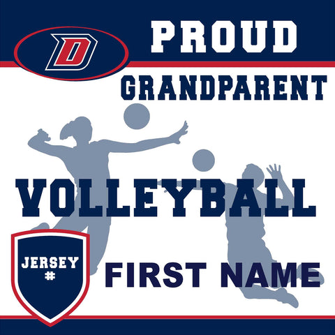 Dublin High School Volleyball (Grandparent with Jersey #) 24x24 Yard Sign (includes installation in your yard)