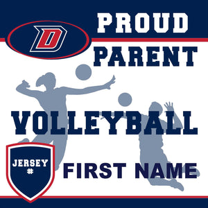 Dublin High School Volleyball (Parent with Jersey #) 24x24 Yard Sign (includes installation in your yard)
