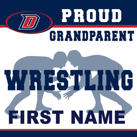 Dublin High School Wrestling (Grandparent) 24x24 Yard Sign (includes installation in your yard)