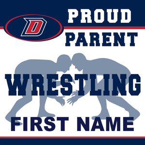 Dublin High School Wrestling (Parent) 24x24 Yard Sign (includes installation in your yard)