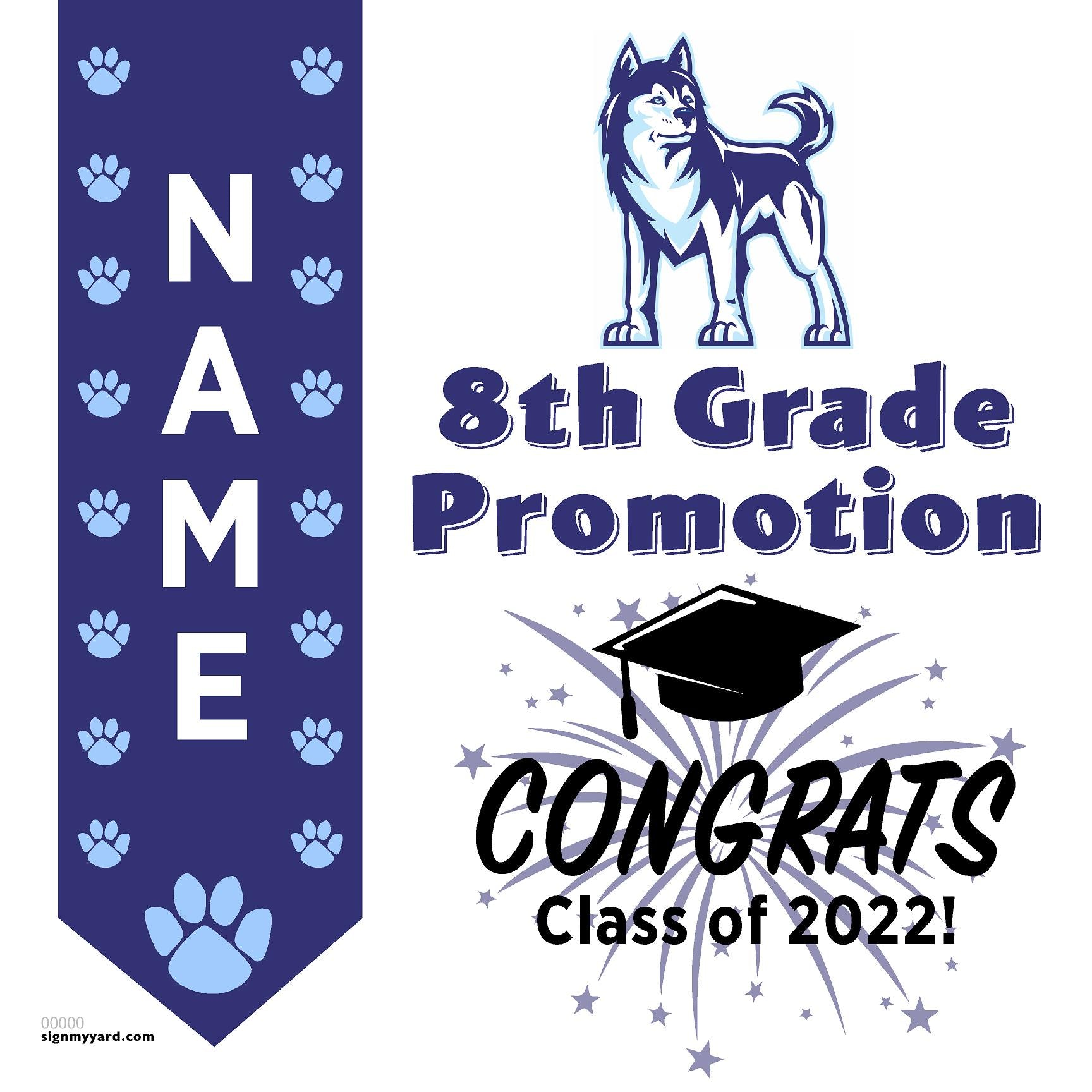 Easterbrook Discovery School 8th Grade Promotion 24x24 #shineon2024 Yard Sign (Option B)