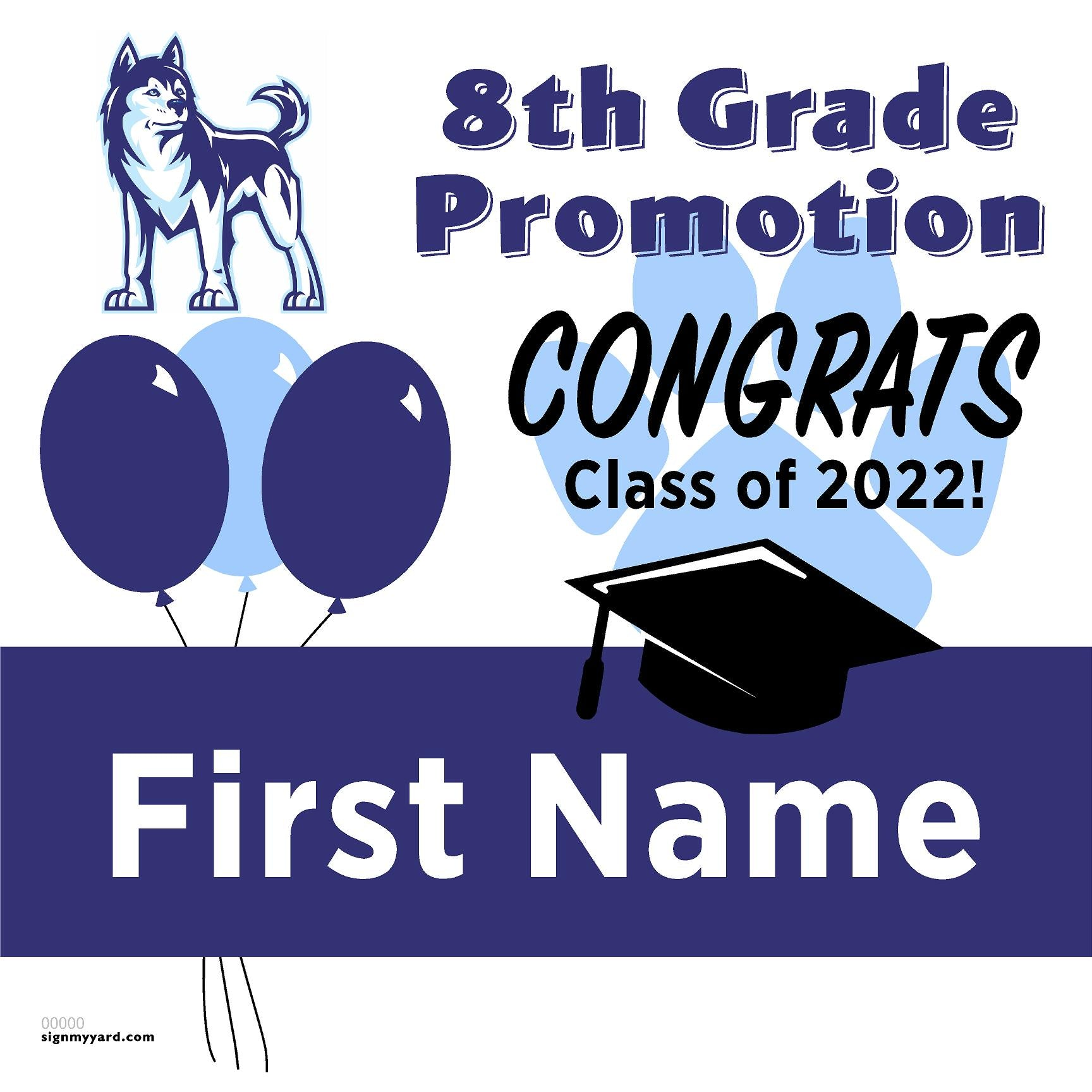 Easterbrook Discovery School 8th Grade Promotion 24x24 #shineon2024 Yard Sign (Option A)