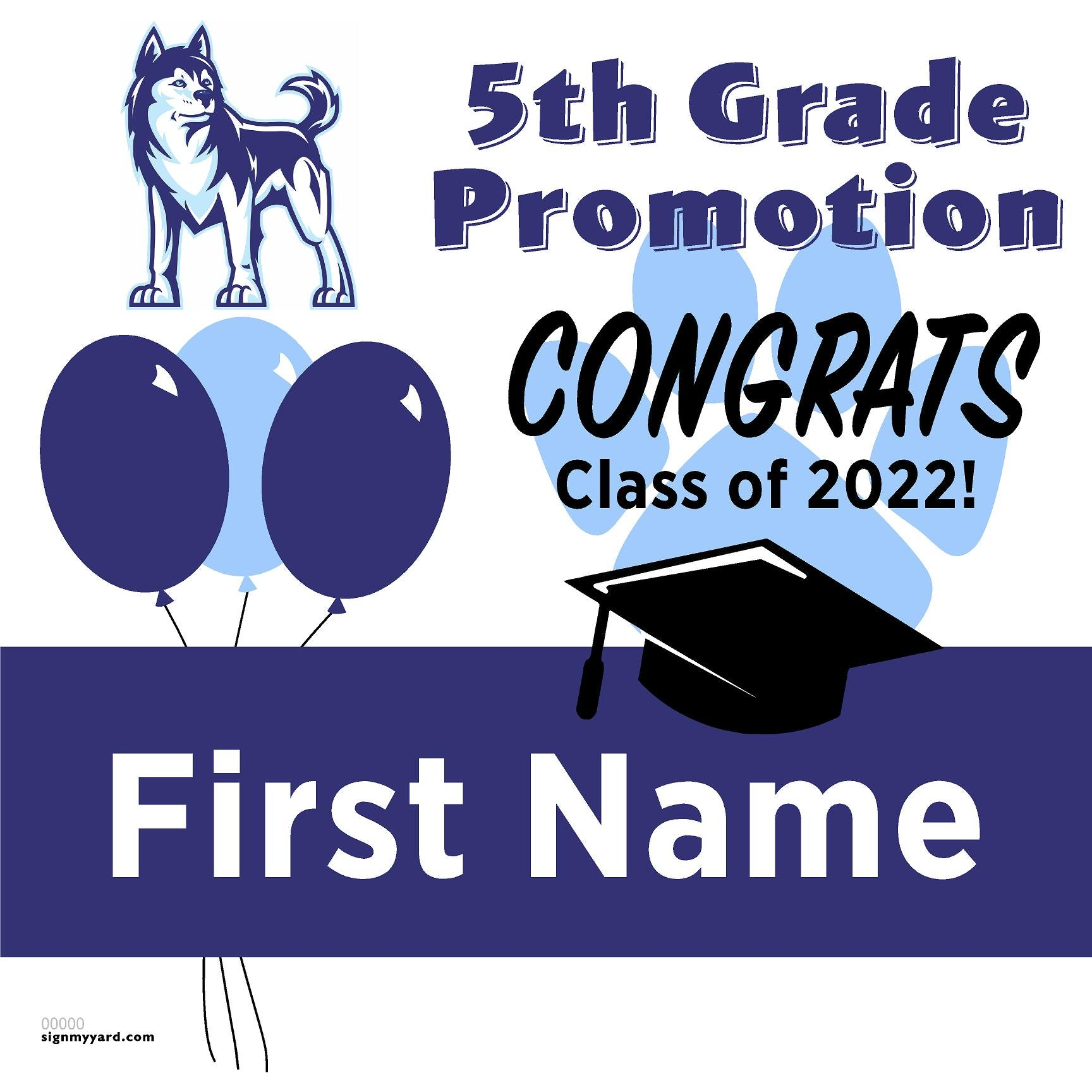 Easterbrook Discovery School 5th Grade Promotion 24x24 #shineon2027 Yard Sign (Option A)
