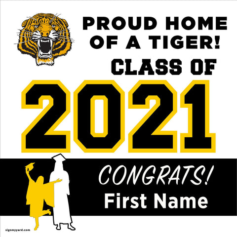 Edison High School 24x24 Class of 2021 Yard Sign (Option A)