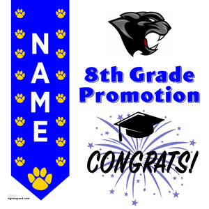 El Portal Middle School 8th Grade Promotion 24x24 #shineon2024 Yard Sign (Option B)