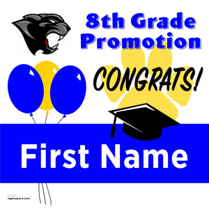 El Portal Middle School 8th Grade Promotion 24x24 #shineon2024 Yard Sign (Option A)
