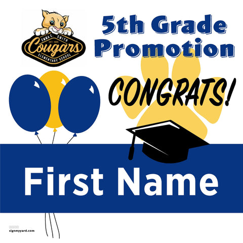 Emma C. Smith Elementary School 5th Grade Promotion 24x24 #shineon2027 Yard Sign (Option A)