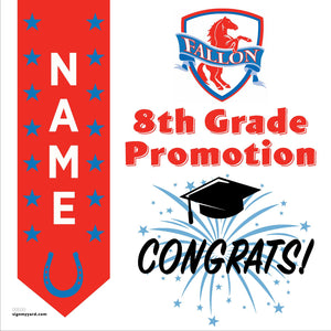 Fallon Middle School 8th Grade Promotion 24x24 #shineon2024 Yard Sign (Option B)