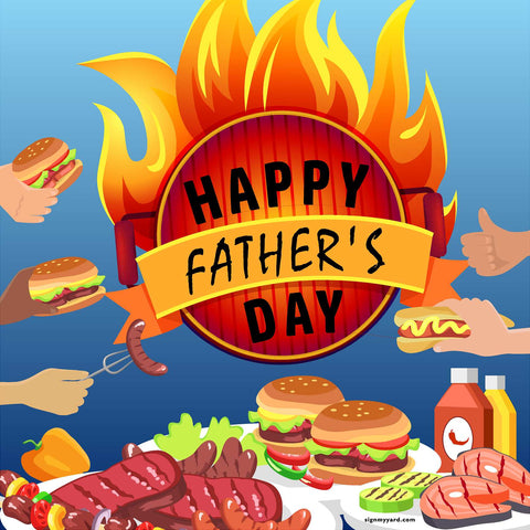 Happy Father's Day!  24x24 Yard Sign (Option E)