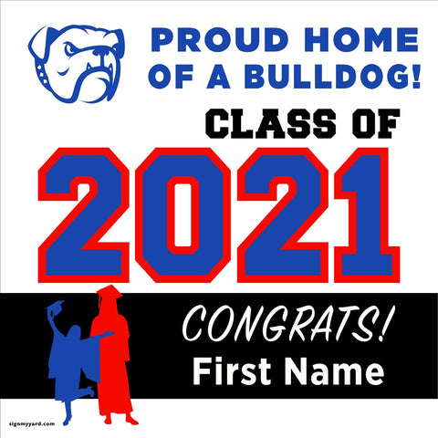 Folsom High School 24x24 Class of 2020 Yard Sign (Option A)