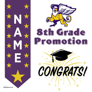 Foothill Middle School 8th Grade Promotion 24x24 #shineon2024 Yard Sign (Option B)