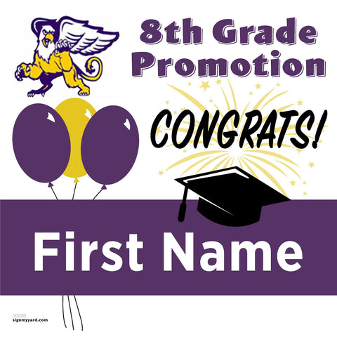 Foothill Middle School 8th Grade Promotion 24x24 Yard Sign (Option A)