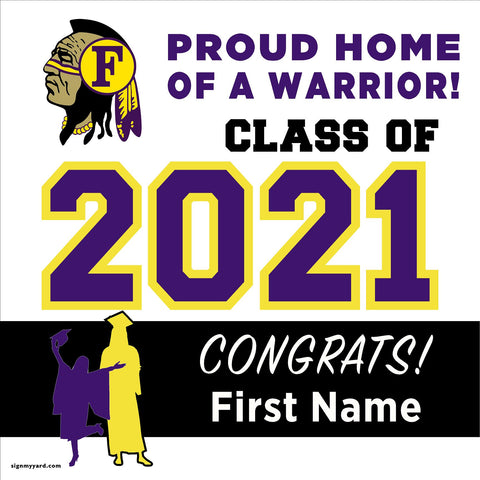 Fresno High School 24x24 Class of 2021 Yard Sign (Option A)
